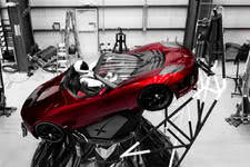 Tesla Roadster and Starman